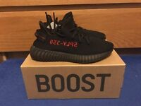 Authentic Yeezy Boost 350 Black/Red (Bred)