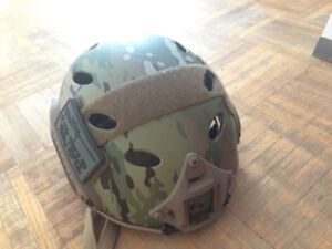 Multicam combat airsoft helmet, barely used, good as new