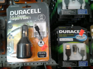 Duracell 5 in 1 Charger (Car) AND Fast Charger *NEW*