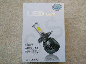 LED Head Lamp Bulbs Bright White Light, available for most cars.