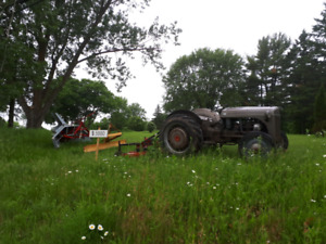 Ford 9n tractor with attachments