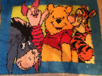 Handmade Winnie the Pooh rug