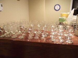 Over 30 wine glasses for sale
