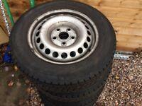 Four steel wheels 205 65 16 Vw t5
