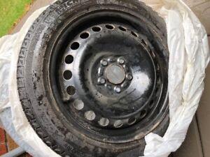 2 - Michelin Low Profile Winter Tires / Rims used 1/2 season