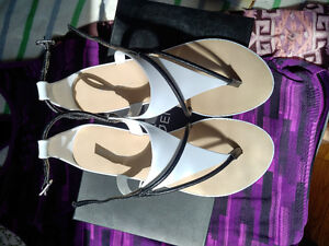 BCBGeneration black and white sandals