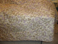 Queen Size Comforter, Bed Skirt, Shams