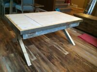 Raw Wood Rustic Coffee Table