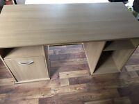 Staples oak effect desk