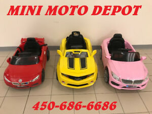 VOITURES ELECTRIQUE RIDE ON CAR  12volts  514-967-4749