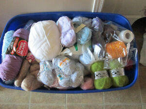 Huge bin of all kinds of yarn