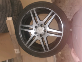 Mercedes AMG alloy wheels for sale.