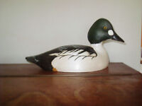 VINTAGE GOLDEN EYE DRAKE DUCK DECOY # 172