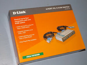 D-Link 4-Port PS/2 KVM Switch DKVM-4K