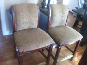 2 Counter Height Dining Chairs
