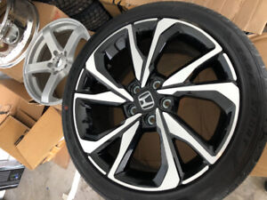 18 inch new Honda factory rims and new Goodyear tires
