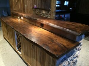 Barn board furniture tables bench door cabinet live edge Kitchener / Waterloo Kitchener Area image 7