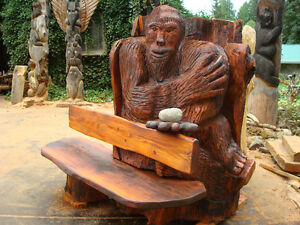 bigfoot carvings full size 8 foot tall