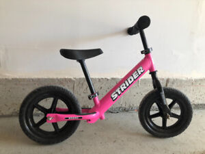 Almost new strider balance bike for kids. Purchased on last Aug