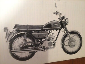 1969 Rare Yamaha CS2E 180cc Service Manual