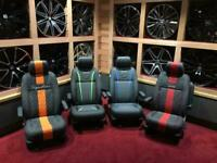 VW TRANSPORTER 100% NAPPA RACELINE LEATHER - LOADS OF COLOUR OPTIONS AND STYLES