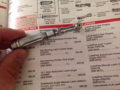 Star Titan Push Button Contra Angle Handpiece 4 High Speed Burs 30 Day Warranty