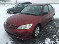 2005 Honda Civic DX. AUTOMATIQUE.      2400$