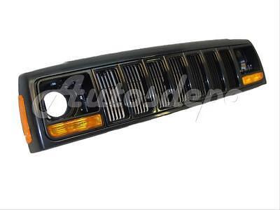 For 97 01 CHEROKEE HEADER PANEL GRILLE HEADLIGHT DOOR PARKSIDE MARKER LIGHT 8PC