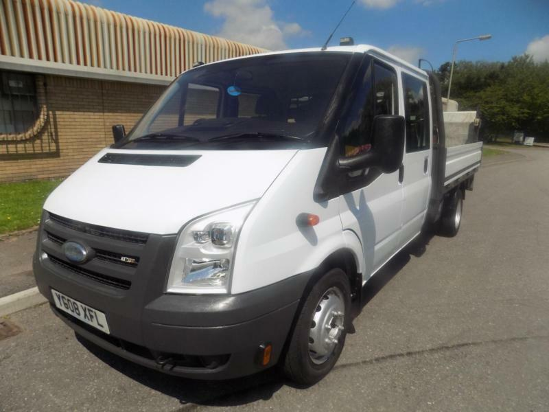 6892c0f5b5 ford transit 350 crew cab flat bed pick up with tail lift 2008 08