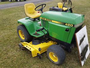 John Deere 420 lawnmower
