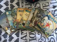 9 Rupert books collectors items