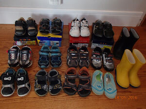 Lot of 15 pairs boys shoes size 6 to 8.5 (age 2-3) NW Dalhousie