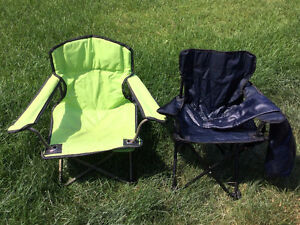 Folding camping / event chairs