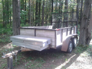 HEAVY DUTY TANDEM AXLE UTILITY TRAILER