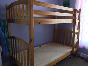 Twin Wooden Bunk Beds