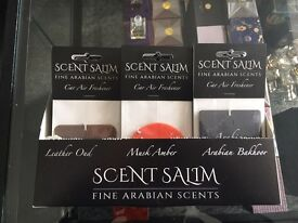 Scent salim oud musk Amber car airfreshners range