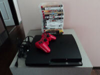 PS3 Slim with 18 Games