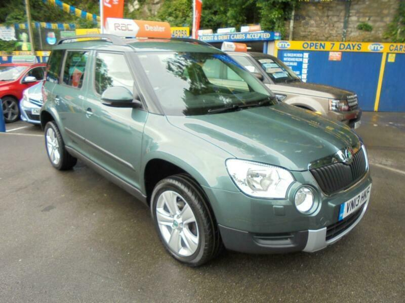 2013 13 SKODA YETI 2 0 TDI CR SE 110 4X4 IN GREEN # FULL SERVICE HISTORY #  | in Bridgend | Gumtree