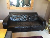 Leather sofa free for collection