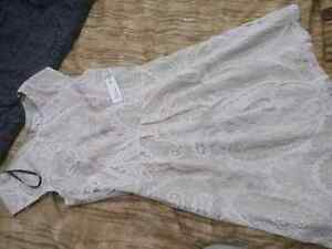 Beige colour adult size 12 brand new lace dress for $20.