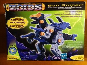 4 Zoids Action Figure model Kits with wind up motor Never Used