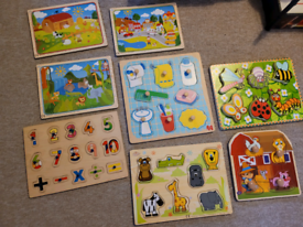 8 x toddler wooden puzzles