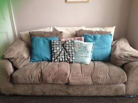 2 x 3 seater sofas with removable washable covers