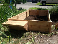 Ceader Garden Box with bench