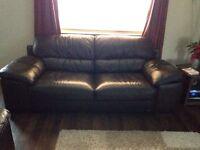 Leather sofa 3 peace
