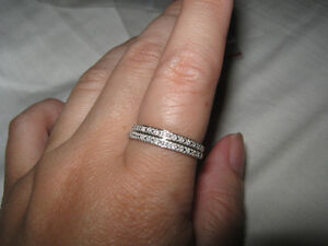 2 NEW 10K Yellow and White Gold Diamond Rings