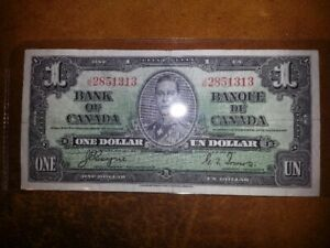 1937 One Dollar Note