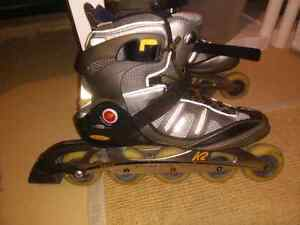 K2 in line skates (aluminum chassis) size 12