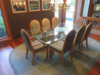 Custom Designed Dining Room Set and Coffee Table