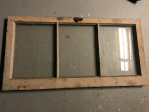 Antique Wood Window Sash 40x20-1/2 /w Glass